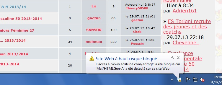 """Pb d'alerte sur une page de catégorie forum """"site bloqué"""" Sans_t26"""