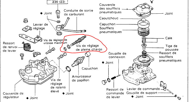 Régler une pompe à injection moteur 1HZ. Captur10