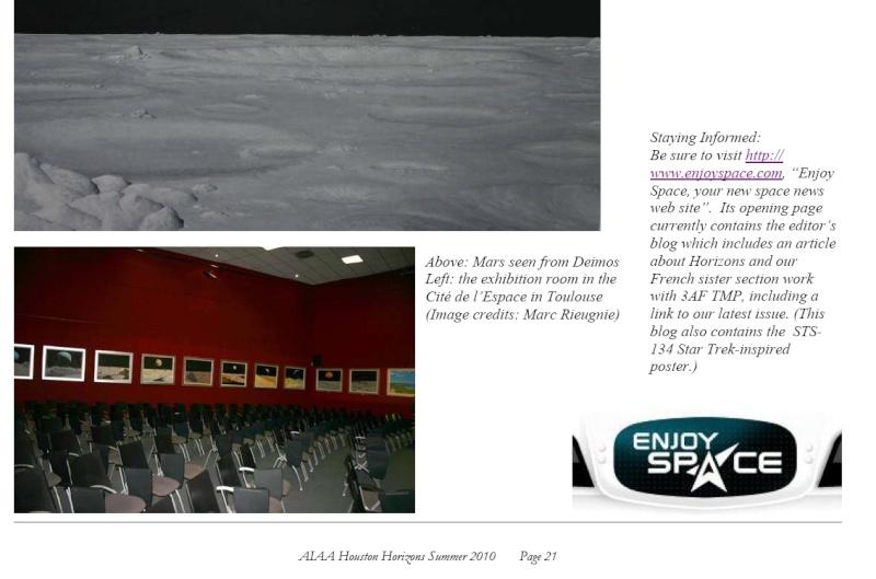 Horizons : la revue de l'AIAA Houston téléchargeable en ligne Screen14