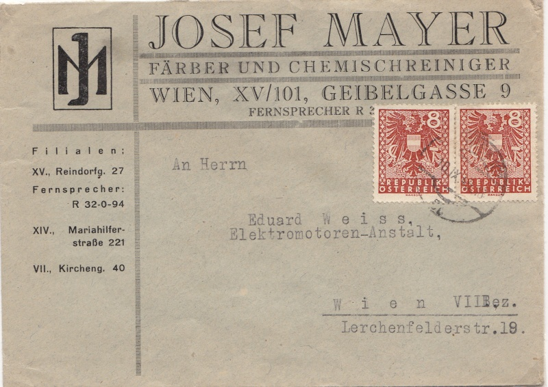 Wappenzeichnung  -  ANK 714-736 - Belege Img21