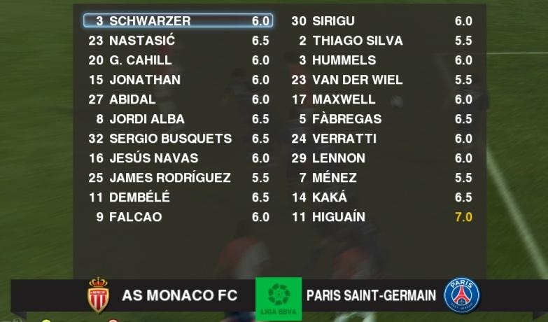 AS Monaco - Paris SG Notes13