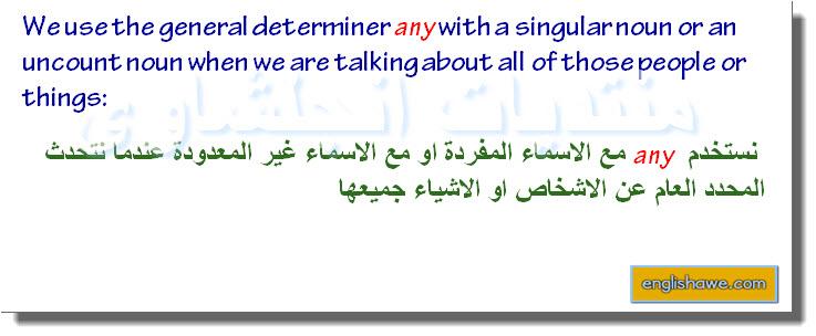 درس كامل للمحددات العامة والخاصة فى اللغة الانجليزية General and specific determiners 1015