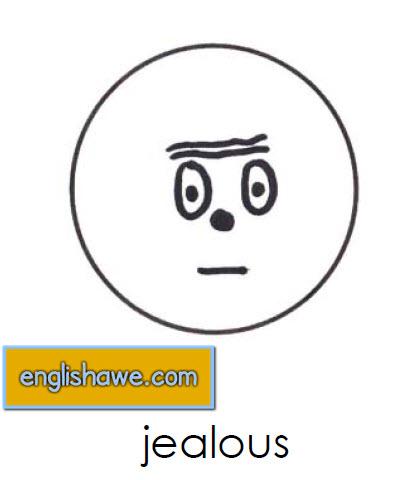 بطاقات تعليمية للوجوة التعبيرية فى اللغة الانجليزية بالصور للاطفال  Facial Expressions for Childred   1111