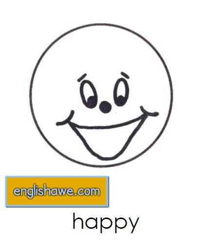 بطاقات تعليمية للوجوة التعبيرية فى اللغة الانجليزية بالصور للاطفال  Facial Expressions for Childred   115