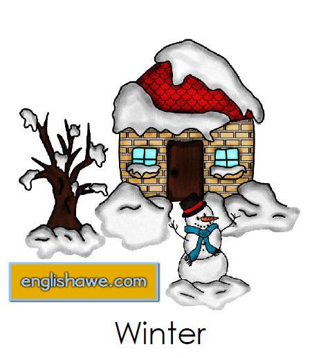 مجموعة  من البطاقات التعليمية لمفردات فصل الشتاء باللغة الانجليزية مع الصور للاطفال Flash Cards for Winter Vocabulary 116