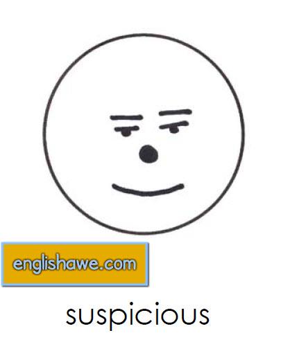 بطاقات تعليمية للوجوة التعبيرية فى اللغة الانجليزية بالصور للاطفال  Facial Expressions for Childred   1211