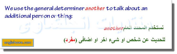 درس كامل للمحددات العامة والخاصة فى اللغة الانجليزية General and specific determiners 1212