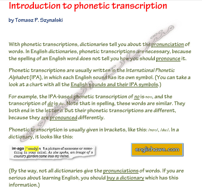 Introduction to phonetic transcription in English 130