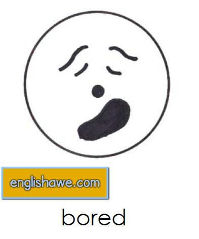بطاقات تعليمية للوجوة التعبيرية فى اللغة الانجليزية بالصور للاطفال  Facial Expressions for Childred   1411