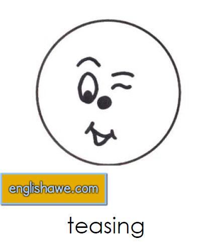 بطاقات تعليمية للوجوة التعبيرية فى اللغة الانجليزية بالصور للاطفال  Facial Expressions for Childred   1711