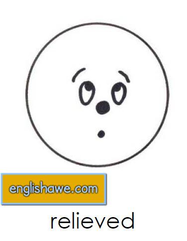 بطاقات تعليمية للوجوة التعبيرية فى اللغة الانجليزية بالصور للاطفال  Facial Expressions for Childred   2017