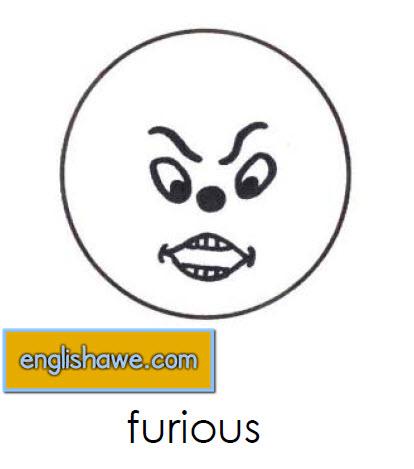 بطاقات تعليمية للوجوة التعبيرية فى اللغة الانجليزية بالصور للاطفال  Facial Expressions for Childred   2112
