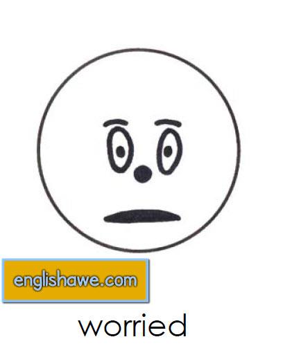 بطاقات تعليمية للوجوة التعبيرية فى اللغة الانجليزية بالصور للاطفال  Facial Expressions for Childred   215