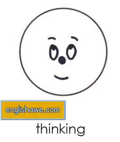 بطاقات تعليمية للوجوة التعبيرية فى اللغة الانجليزية بالصور للاطفال  Facial Expressions for Childred   2213