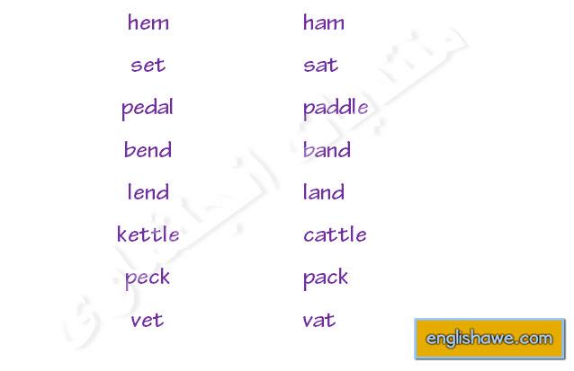 Minimal Pairs /æ/ & /e/ -English Phonetics 225