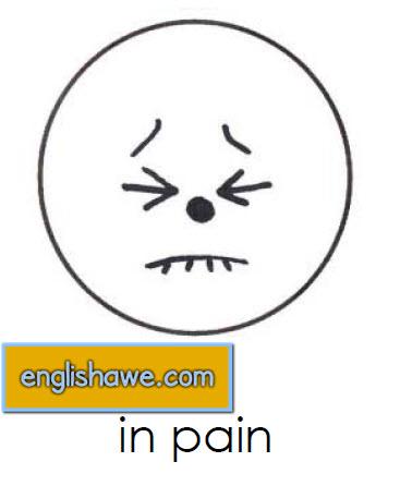 بطاقات تعليمية للوجوة التعبيرية فى اللغة الانجليزية بالصور للاطفال  Facial Expressions for Childred   2310