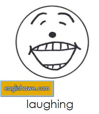 بطاقات تعليمية للوجوة التعبيرية فى اللغة الانجليزية بالصور للاطفال  Facial Expressions for Childred   2410