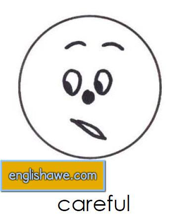 بطاقات تعليمية للوجوة التعبيرية فى اللغة الانجليزية بالصور للاطفال  Facial Expressions for Childred   2510