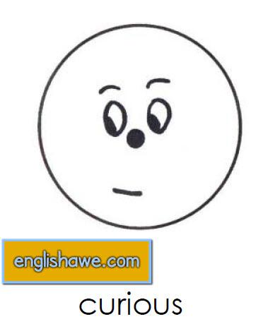 بطاقات تعليمية للوجوة التعبيرية فى اللغة الانجليزية بالصور للاطفال  Facial Expressions for Childred   2610