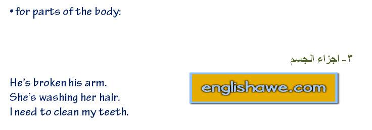 درس صفات الملكية فى اللغة الانجليزية للمبتدئين  possessive adjectives in English language 318