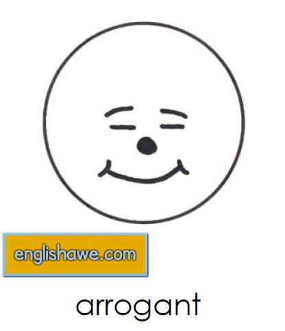 بطاقات تعليمية للوجوة التعبيرية فى اللغة الانجليزية بالصور للاطفال  Facial Expressions for Childred   417