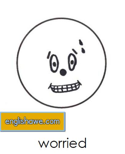 بطاقات تعليمية للوجوة التعبيرية فى اللغة الانجليزية بالصور للاطفال  Facial Expressions for Childred   514
