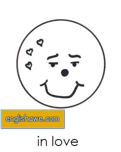 بطاقات تعليمية للوجوة التعبيرية فى اللغة الانجليزية بالصور للاطفال  Facial Expressions for Childred   614
