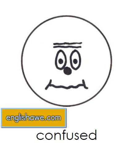 بطاقات تعليمية للوجوة التعبيرية فى اللغة الانجليزية بالصور للاطفال  Facial Expressions for Childred   712
