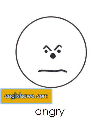 بطاقات تعليمية للوجوة التعبيرية فى اللغة الانجليزية بالصور للاطفال  Facial Expressions for Childred   812