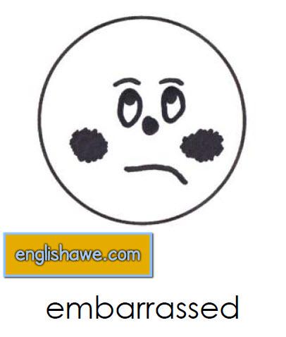 بطاقات تعليمية للوجوة التعبيرية فى اللغة الانجليزية بالصور للاطفال  Facial Expressions for Childred   912