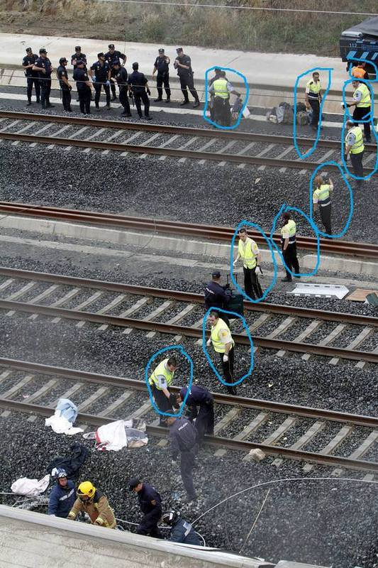 En el accidente de Santiago, también había Vigilantes de Seguridad. Bi1810
