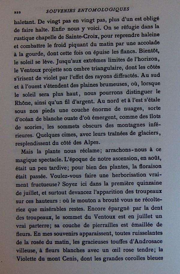 Fabre et le Mont Ventoux - Août 1865 Fv1410
