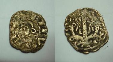 Óbolo de Pedro I de Aragón y Pamplona, ceca Jaca. 114