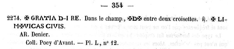 Denier de Limoges Eudes et monnayage immobilisé à son nom (29/2/888-1/01/898 et Xe siècle)  Limoge11
