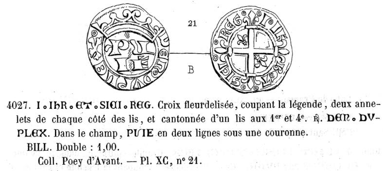 Double de billon de Louis II de Provence Pa_40210