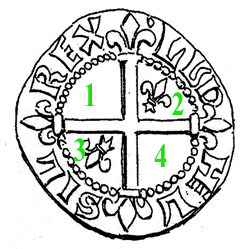 Double de billon de Louis II de Provence Pa_40511