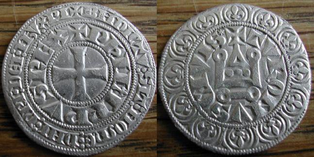 Gros tournois à l'0 long frappé par Philippe IV  Philip10