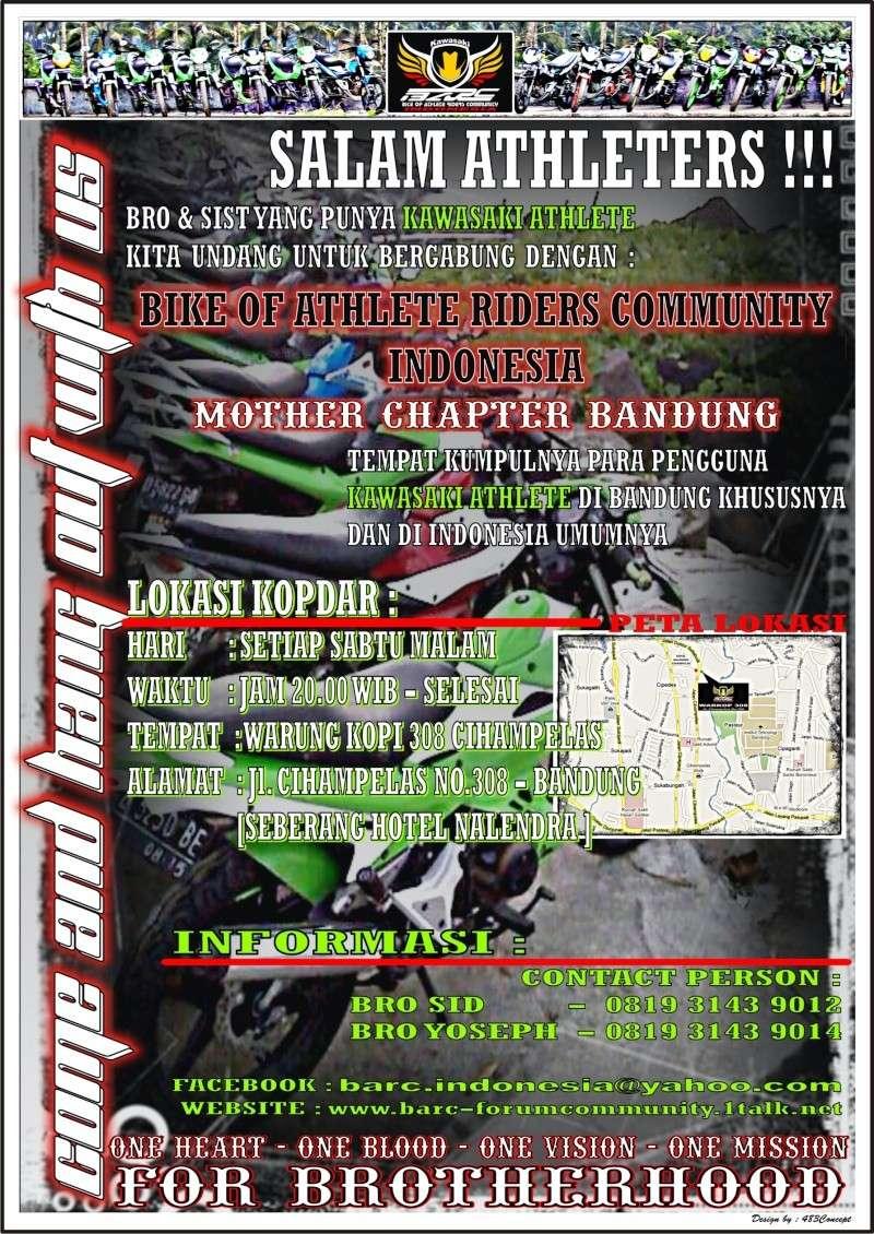 JADWAL DAN LOKASI KOPDAR B.A.R.C INDONESIA CHAPTER BANDUNG Flyerb10