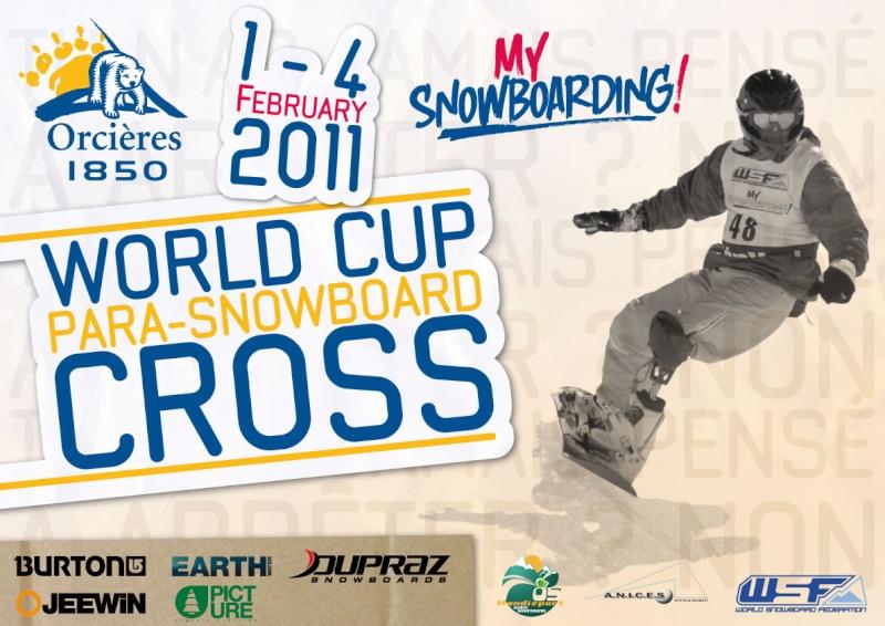 Coupe du monde de Para-snowboard à Orcières 1850 Affich10