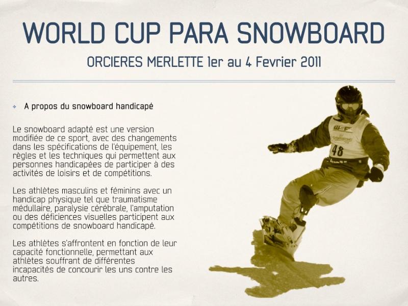 Coupe du monde de Para-snowboard à Orcières 1850 Parasn10
