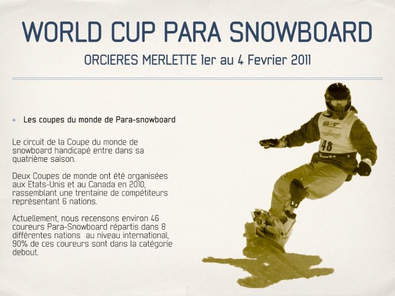 Coupe du monde de Para-snowboard à Orcières 1850 Parasn11