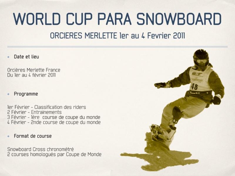 Coupe du monde de Para-snowboard à Orcières 1850 Parasn12