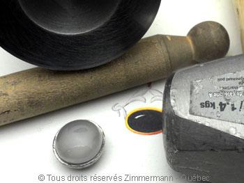 Bague avec Pierre de lune de 20 mm  Baac9110