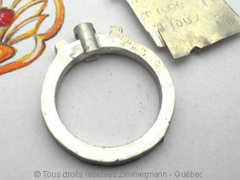 Bague palladium, diamant 15/100 ct et deux saphirs roses Bapabf18