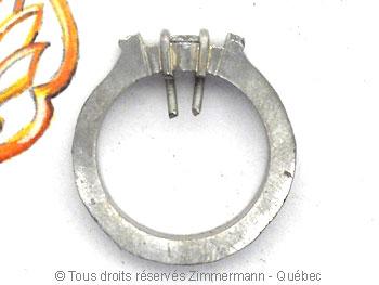 Bague palladium, diamant 15/100 ct et deux saphirs roses Bapabf20