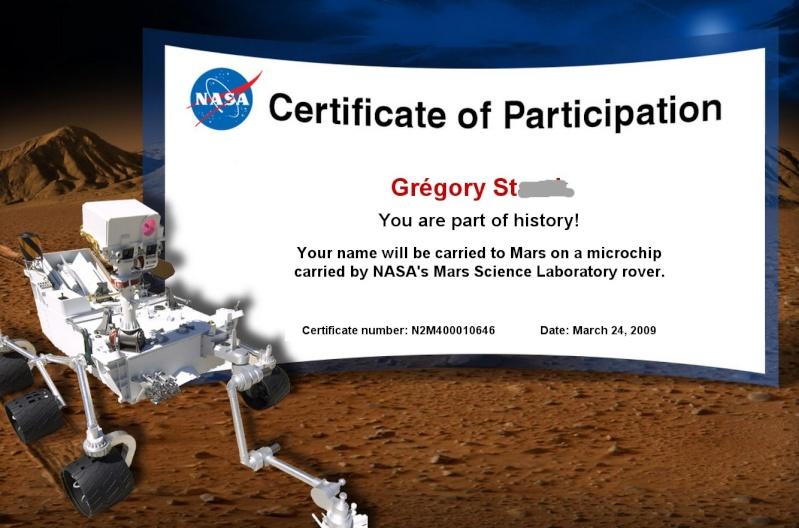 [Curiosity/MSL] Certificat de participation Certif12