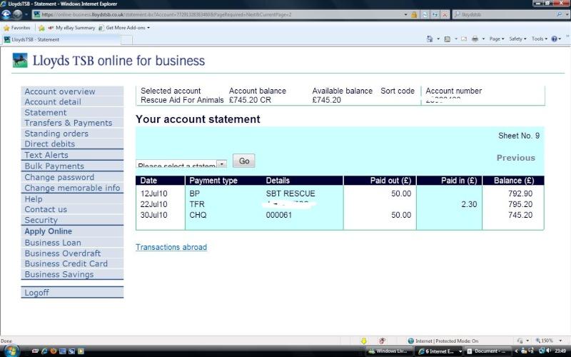 RAFA Bank Account Rafa_b13