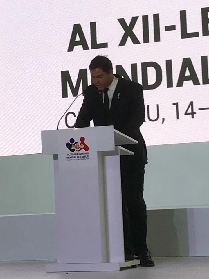 14 septembre 2018 : Louis XX au 12e Congrès Mondial de la Famille en Moldavie 41787110