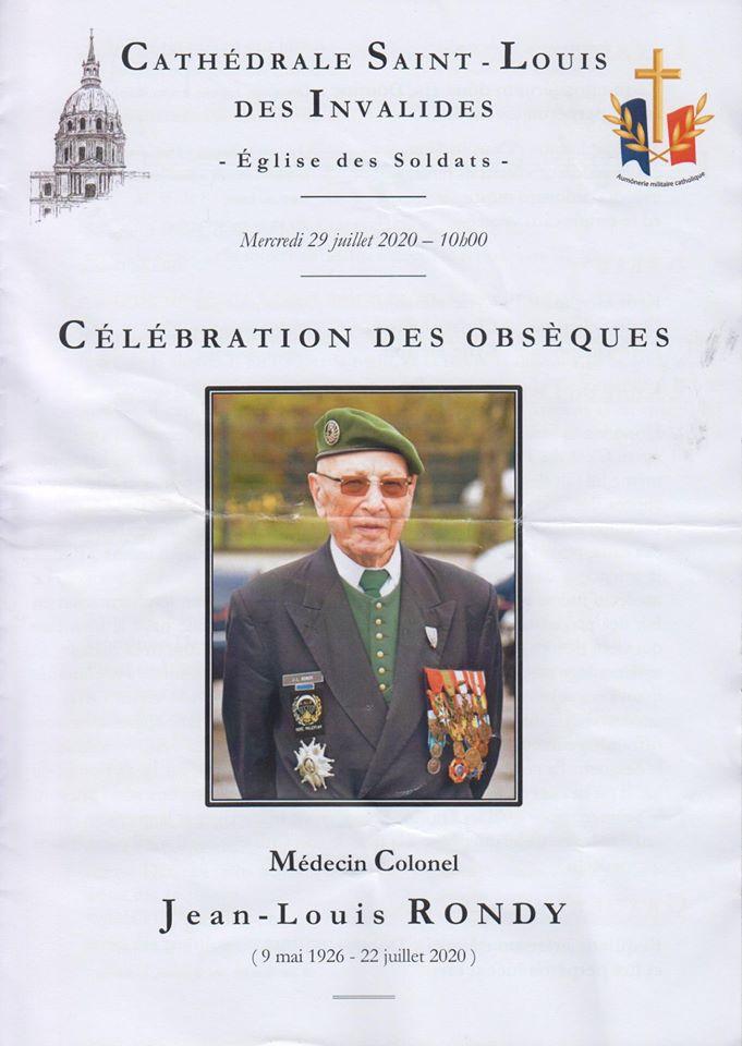 Obsèques du Médecin Colonel Jean louis RONDy 11713110
