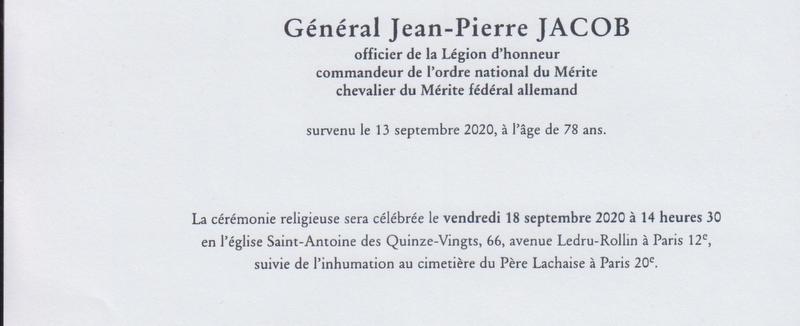 Décès du Gal Jean-Pierre JACOB 11966611